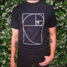Golden Ratio ·· Unisex camiseta, Geometría Sagrada Ropa.