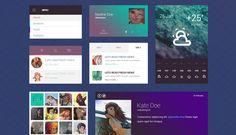 Freebie: Flat design UI kit by TeslaThemes