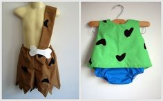 Pebbles and Bam Bam Costumes girl boy clothing by RaeGun for halloween . . . . Ideas