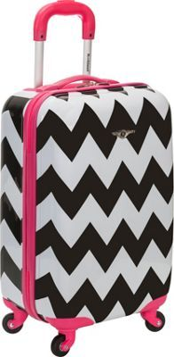 Rockland Sonic 20 Carry On Suitcase Set - Pink Chevron Suitcase Set, Spinner Suitcase, Carry On Suitcase, Carry On Luggage, Luggage Sets, Travel Luggage, Rockland Luggage, Cute Luggage, Travel Bags For Women