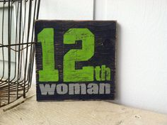 Seattle Seahawks 12th WOMAN Hand Painted Sign by ASign4Life, $20.00