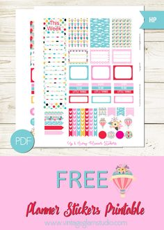 Free Printable Up & Away Planner Stickers from Vintage Glam Studio