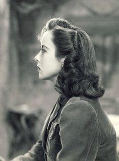 Ida Lupino photographed in profile, 1940' ~