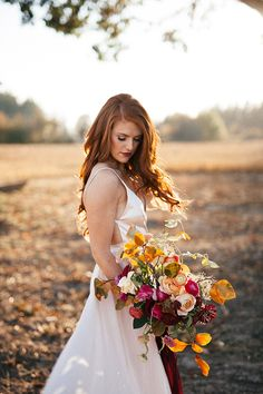 Featured on GREEN WEDDING SHOES the beautiful story of Audrey & Jeremy Roloff first wedding anniversary. Beautifully captured by Cassie Rosch, and amazing florals by Selva Floral, this stunning shoot is full of character & love! Wedding Show, Farm Wedding, Wedding Bride, Dream Wedding, Wedding Day, Wedding Photos, Fall Wedding Dresses, Autumn Wedding, Redhead Bride