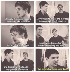 """""""I've got Bradley James on my back!"""" <~~ oh Colin you're just too adorable!!!"""