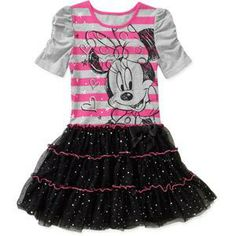 Disney Minnie Mouse Girls Mesh Skirt Dress