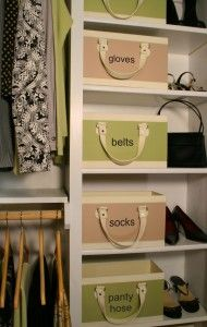 Spring Closet Organization Ideas ~Easy labeling ideas to make organizing accessories chic and fabulous