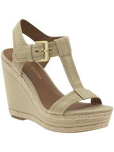 Piperlime - Ambrosia by Franco Sarto - Wedge T-Strap Wedge Sandals in Natural Color $49.99