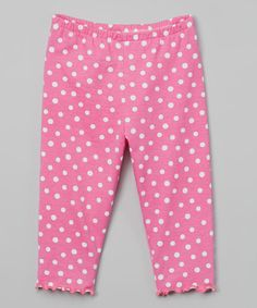 Another great find on #zulily! Pink Dot Capri Pants - Toddler & Girls #zulilyfinds