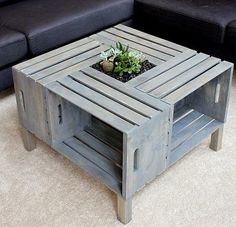 Kaila's Place | DIY Crate Coffee Table