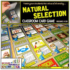 See how Evolution actually works through random mutations and Natural Selection using this engaging deck of cards which determines if your populations survive or goes extinct. The last population standing wins the game. Do you have what it takes? Natural Selection, The Selection, Extinct, Science Education, Deck Of Cards, Diversity, Card Games, Evolution, Classroom