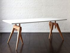 Compass Table by Matthew Hilton for SCP | Remodelista
