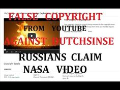 FALSE FLAG COPYRIGHT from Russians on NASA video -- Youtube allowed = Du...