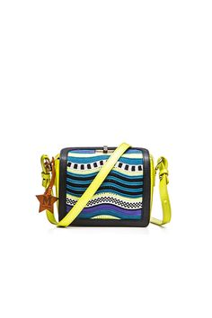 M-Missoni - MINI BAG IN LIME RIPPLE PATTERN