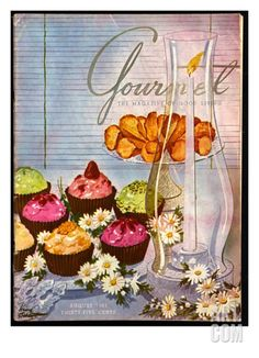 Gourmet Cover - August 1951 Premium Giclee Print by Henry Stahlhut at eu.art.com