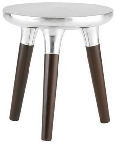 Aluminum Wood Side Table from west elm  side tables and accent tables