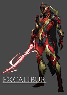 ArtStation - warframe_ excalibur, lee H. Robot Concept Art, Armor Concept, Weapon Concept Art, Fantasy Armor, Fantasy Weapons, Dark Fantasy Art, Warframe Excalibur, Warframe Art, Body Armor