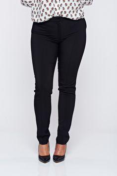 Comanda online, Pantaloni LaDonna negri office conici cu buzunare. Articole masurate, calitate garantata!