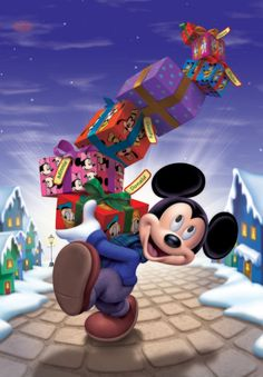 appreciate the animation of Mickey Mouse.he lightens your spirit and that is a beautiful thing, and everyone can relate Walt Disney, Disney Fun, Disney Magic, Mickey Mouse Christmas, Mickey Mouse And Friends, Mickey Minnie Mouse, Christmas Gifts, Christmas Shopping, Merry Christmas