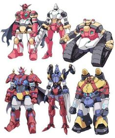 Getter Robo G's 3 forms, (below) Dragun, Arrow and Poseidon and the original Getter Robo (above, not seen in the English version) Robot Concept Art, Robot Art, Super Robot Taisen, Cool Robots, Big Robots, Robot Cartoon, Japanese Robot, Alternative Comics, Robot Illustration