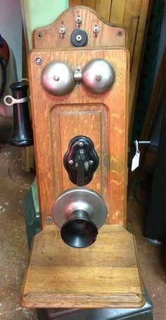 Vintage crank telephone Telephone, Bottle Opener, Barware, Technology, Wall, Vintage, Tech, Phone, Tecnologia