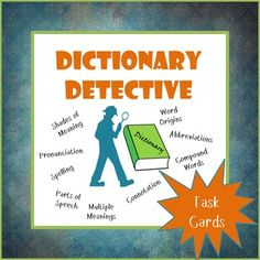These Dictionary Detective task cards are a great way to give dictionary practice beyond just the basic skills. With these cards, your students will explore the dictionary to find a way to solve each task. They are also perfect for English language learners! Includes a variety of dictionary tasks.