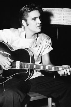 "Elvis Presley ""Love Me Tender"" recording session, August 1956."
