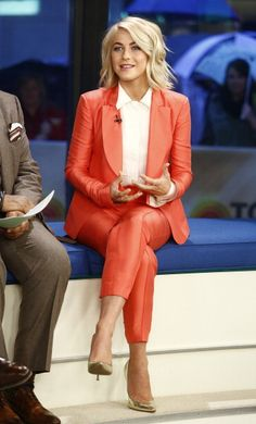 Julianne Hough wearing a Pink DVF SS13 Pantsuit on the @TODAY show