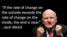 """. """" اگر سرعت تغییرات بیرونی  بیش از سرعت تغییرات درونی باشد پایان کار شما نزدیک است! """"  #سخن_بزرگان #جک_ولش"""