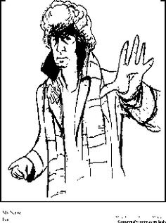 Dr Who Coloring Pages Tom Baker