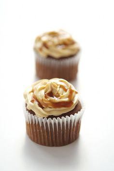Chocolate cupcakes with salted caramel icing! Meeeooohmy!