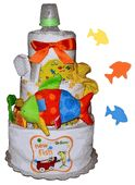 Neutral Baby Diaper Cakes by Stork Baby Gift Baskets