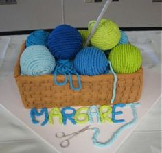 yarn cake... awesome