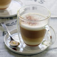 Caramel Cappuccinos make all the difference. Obsessed with this recipe. Add 1 teaspoon caramel syrup to your mug and brew a Dolce Gusto Cappuccino on top. Finish off with a dash of ground cinnamon!