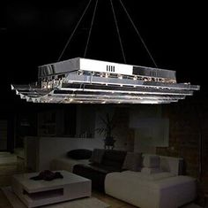 546.00$  Watch here - http://ali8eu.worldwells.pw/go.php?t=32672688275 - Luxury K9 Crystal Hanging Lamps G4 Plated Home Decor Art Lustre Suspension Light Living  Room Bedroom Modern Lighting 546.00$
