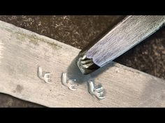Blacksmithing - Making a touchmark stamp - YouTube