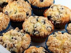 I substitute whole wheat flour in the muffins and strussel and add brown sugar to the strussel and these will change your world of muffins.
