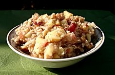 Check out my high carb, low fat vegan Apple Pie Porridge recipe! #HCLFV #Vegirous #Porridge #ApplePie