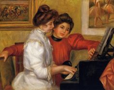 Young Girls at the Piano : Pierre Auguste Renoir : Museum Art Images : Museuma