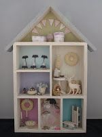 a second miniature shabby chic display house