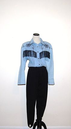 Vintage Western Jumpsuit by CheekyVintageCloset on Etsy, $26.00