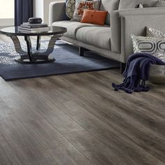 Shop Pergo MAX Premier Embossed Oak Wood Planks Sample (Heathered Oak) at Lowes.com