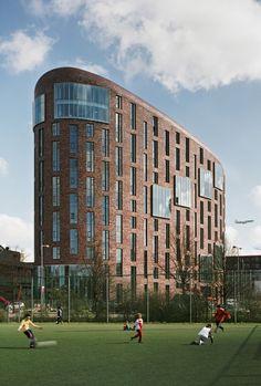 OZW Institute / Jeanne Dekkers Architectuur  mooi gebruik van de vormen en de materialen