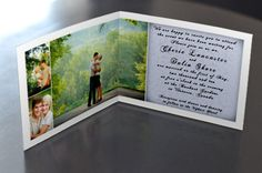 Folded Picture Wedding Invitations