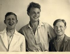 W.H. Auden, Stephen Spender and Christopher Isherwood, at Sellin on the island of Ruegen, 1931 (b/w photo) by Sir Stephen Spender on The Baz...
