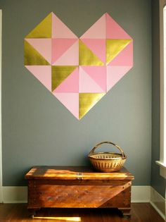Geometric heart. Shades to match the duck egg though