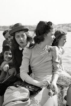 May 1941. Three sisters at Cherry Blossom Festival, Washington, D.C.