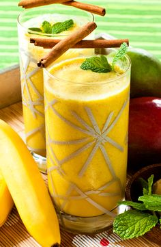 Mango Protein Shake- From Shake Lunch Up Cookbook-Styling Chef Kenny