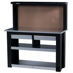54 in. Professional Steel Workbench with Back Wall Storage-WBG-54BB-DS - The Home Depot