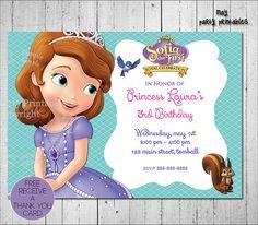 Invitación de Princesa Sofía-tarjeta gratis por MayPartyPrintables